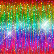 "RAINBOW HAIR TINSEL (100 Strands, 36"" Long)"