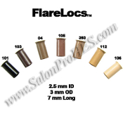 FlareLocs™ 2.5mm ID x 6-7mm 50, 250 or 1000 pcs
